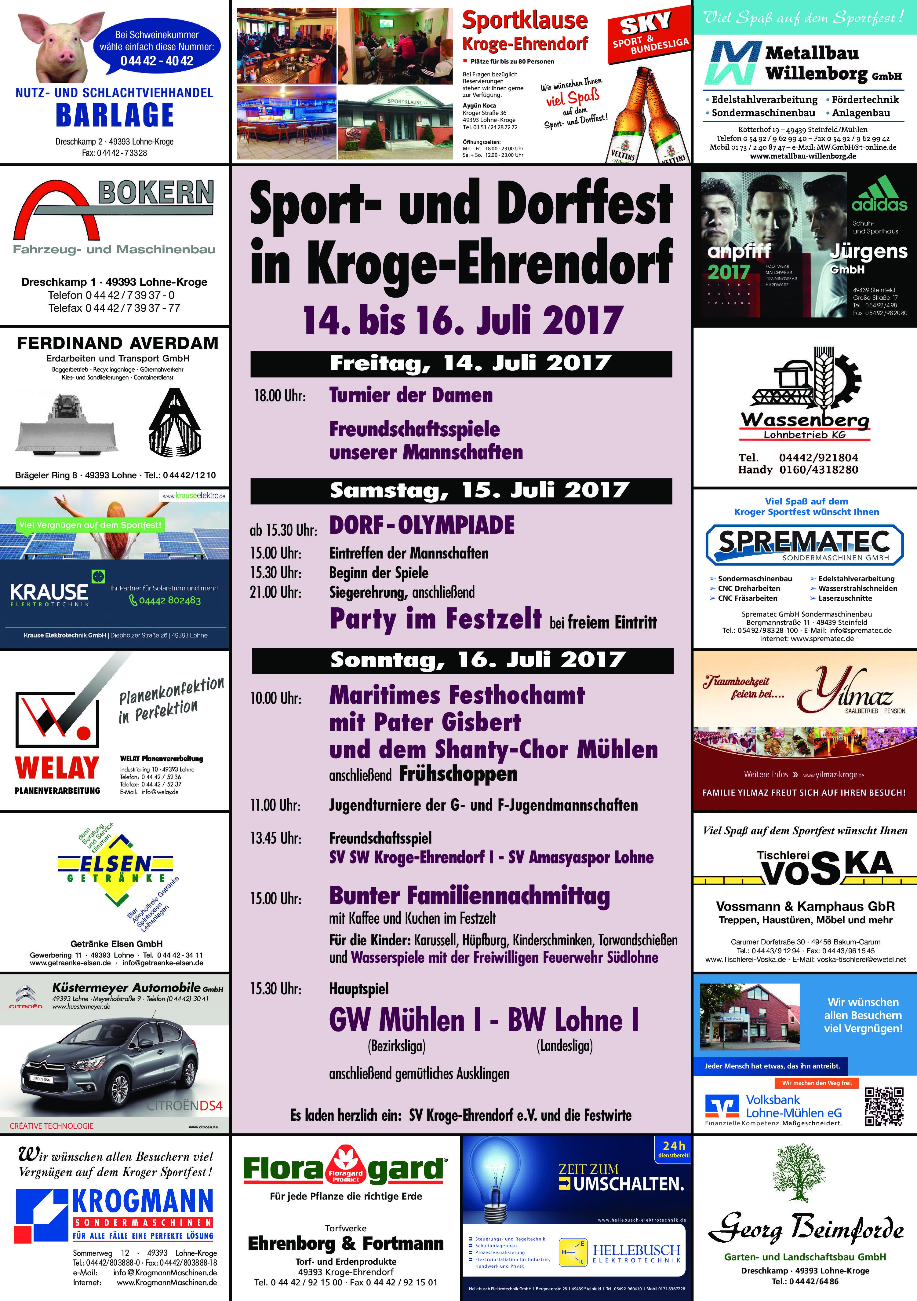 Sport- und Dorffest