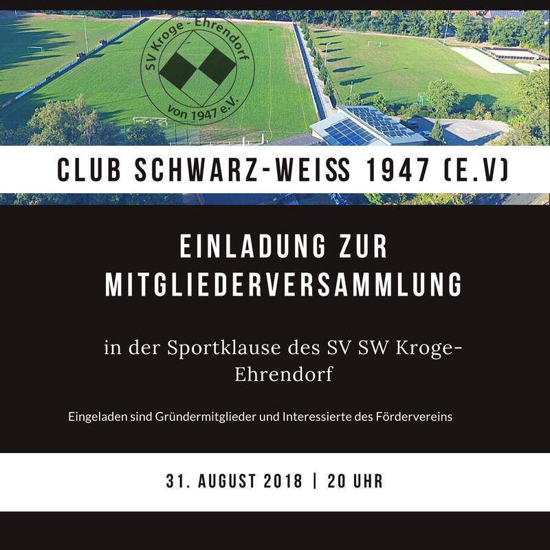 Mitgliederversammlung Club Schwarz-Weiß 1947